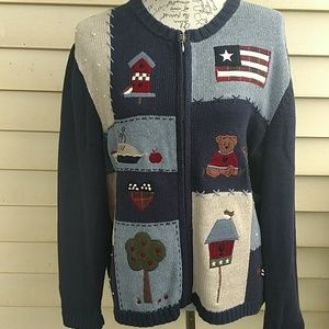 Women's Croft & Barrow petite large sweater